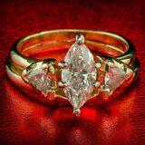 1.56 CTW NATURAL DIAMOND ENGAGEMENT PROMISE WEDDING RING SET 14K YELLOW GOLD