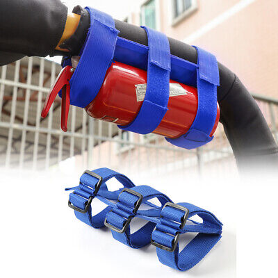 1x Blue Roll Fire Extinguisher Strap Holder Mount For Jeep Wrangler Accessories