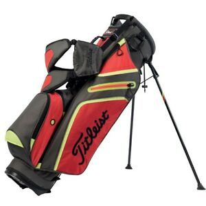 New Leist Golf Ultra Lightweight Stand Bag 3 Way Top Grey Tomato Citron