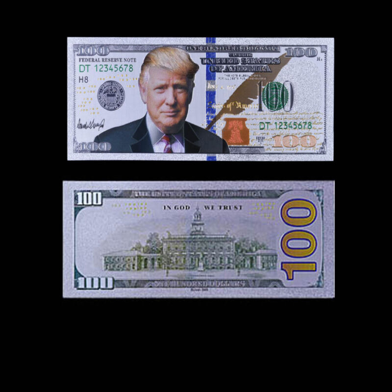 Currency Note Collection Money Paper Us Donald Trump 100 Usd Banknotes Bill