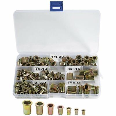 120 Carbon Steel Rivet Nuts 8-32 10-24 14-20 516-18 38-16 Threaded Inserts