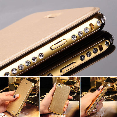 Luxury Bling Crystal Aluminum Ultra-thin Metal Frame  Apple iPhone Case Cover