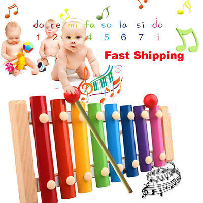 Melodious Baby Kid Musical Toys Xylophone Wisdom Educational Wooden Instrument G