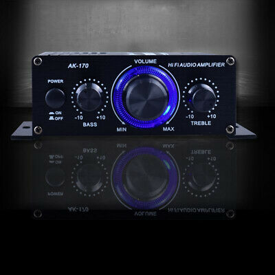 400W DC12V Hifi Amplificador de Potencia Coche Estéreo Música Receptor Fm Radio