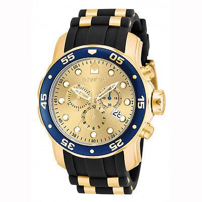 Kyпить Invicta 17881 Men's Champagne Dial Gold Steel & Rubber Strap Watch на еВаy.соm