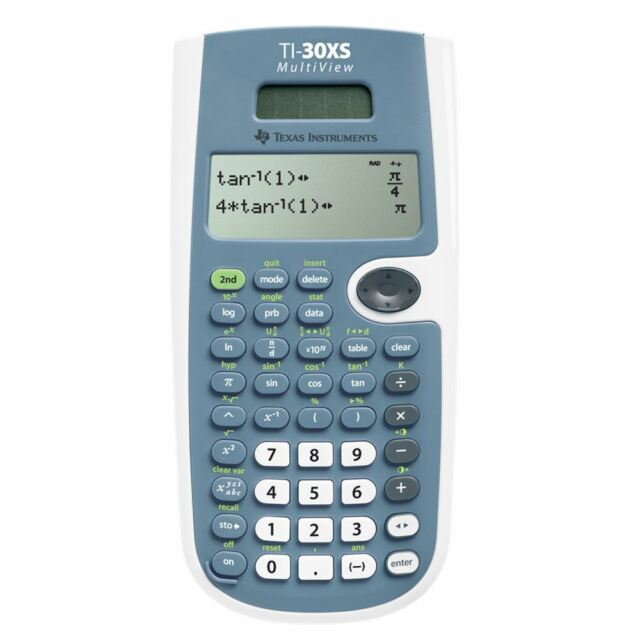 Texas Instruments Solar Scientific Calculator with Multi-line Display TI30XS New