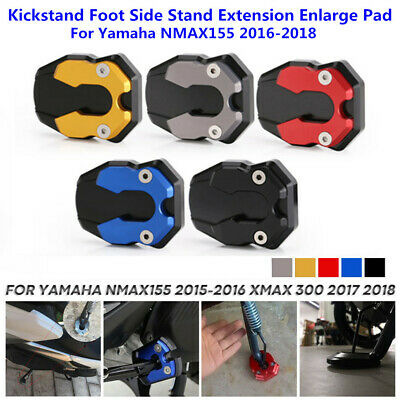 Motorcycle Kickstand Side Stand Extension Enlarge Pad For Yamaha NMAX155 2016-18