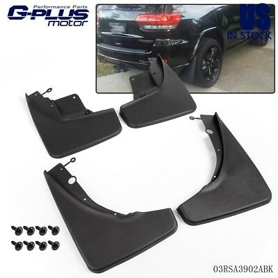 Front Mud Guard - 4PCS Front & Rear Splash Guard Mud Flaps For 2011-2015 JEEP Grand Cherokee WK2