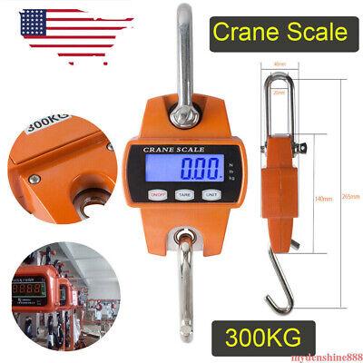 Mini Digital Crane Scale 300kg 660lbs Industrial Hook Hanging Weight Weighing