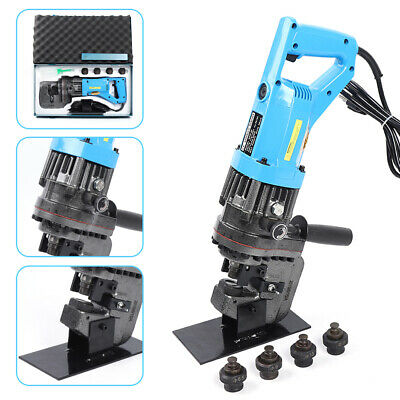 110v Electric Hydraulic Hole Punch Puncher Steel Plate Hole Punching Machine Usa