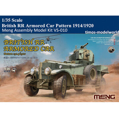 Meng VS-010 1/35 Scale British RR Armored Car Pattern1914/1920 Assembly Model
