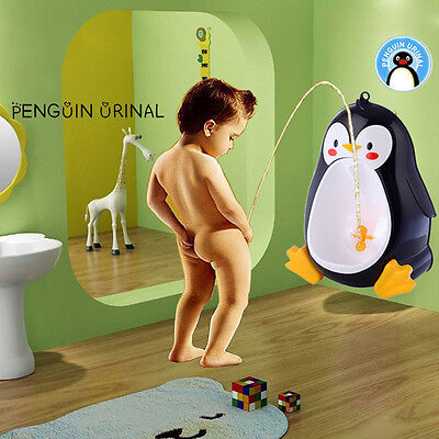New Baby Boys Urinal Potty Training Children Penguin-Shaped Toilet Pee Trainer