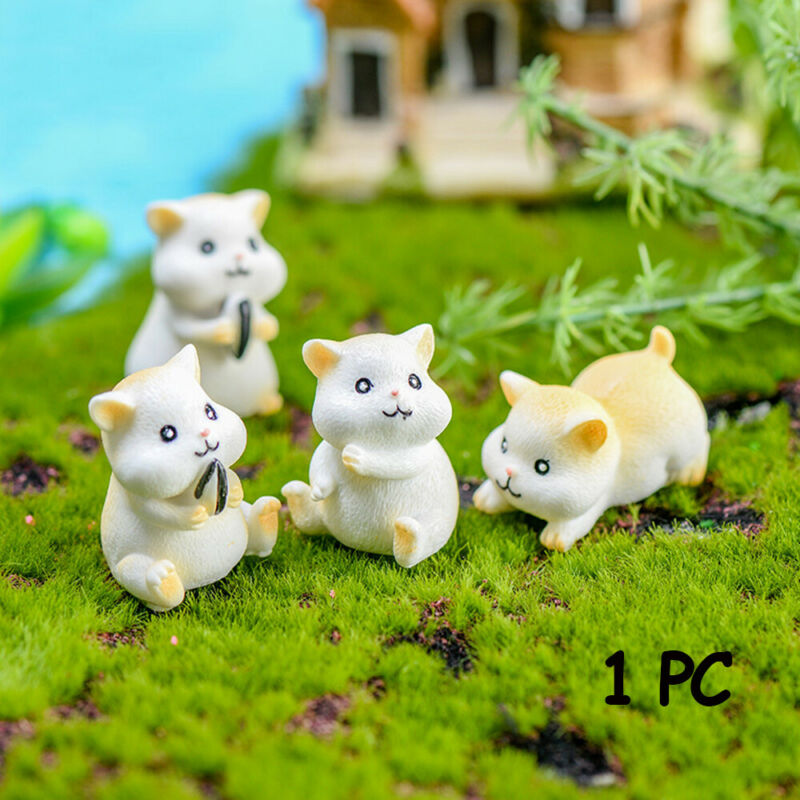 Moss Terrarium Mini Statue Miniature Animal Hamster Figurine Home