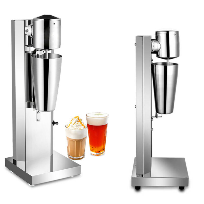 180W Commercial Stainless Steel Milk Shake Machine Single Head Drink Milk Mixer