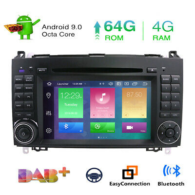 8-Kern Android 9.0 Autoradio DAB+ Navi Mercedes BENZ C/CLC/CLK Klasse W203 W209