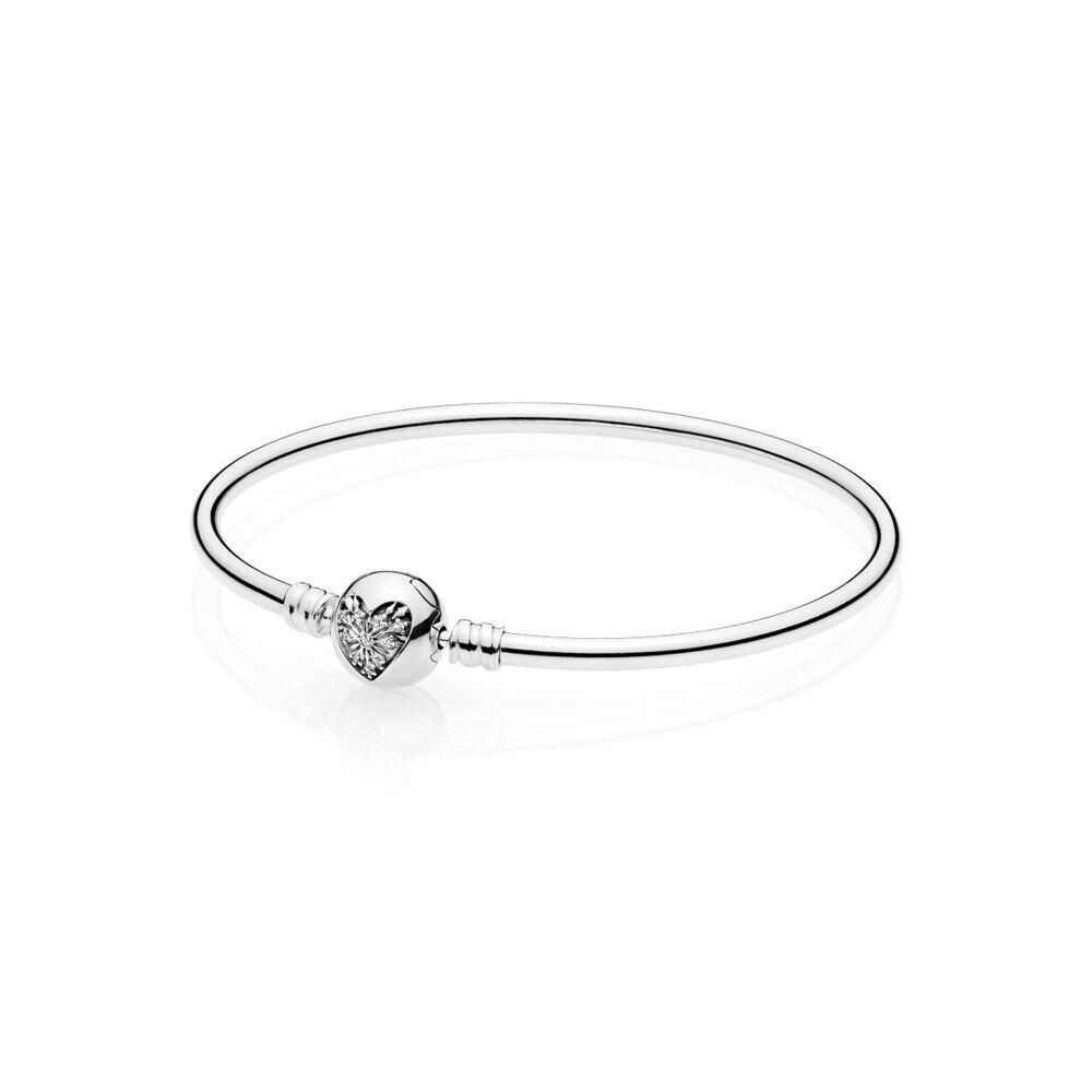 Pandora Armreif 596404CZ 19 cm 925/- Silber Verschluss mit Herz