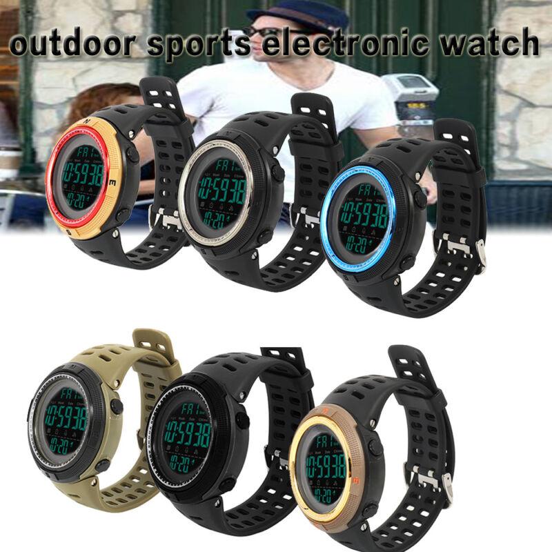 Herren Damen Armbanduhr Digital Fitness Uhr Sportuhr Elektronische Wasserdichte