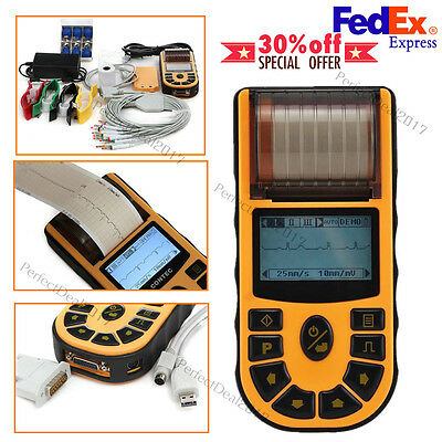 Fda Handheld Digital 1-channel Electrocardiograph Ecgekg Systemsusbsoftware