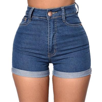 Women Shorts Jeans High Waist Mini Party Beach Hot Sexy Summer Denim Pants US