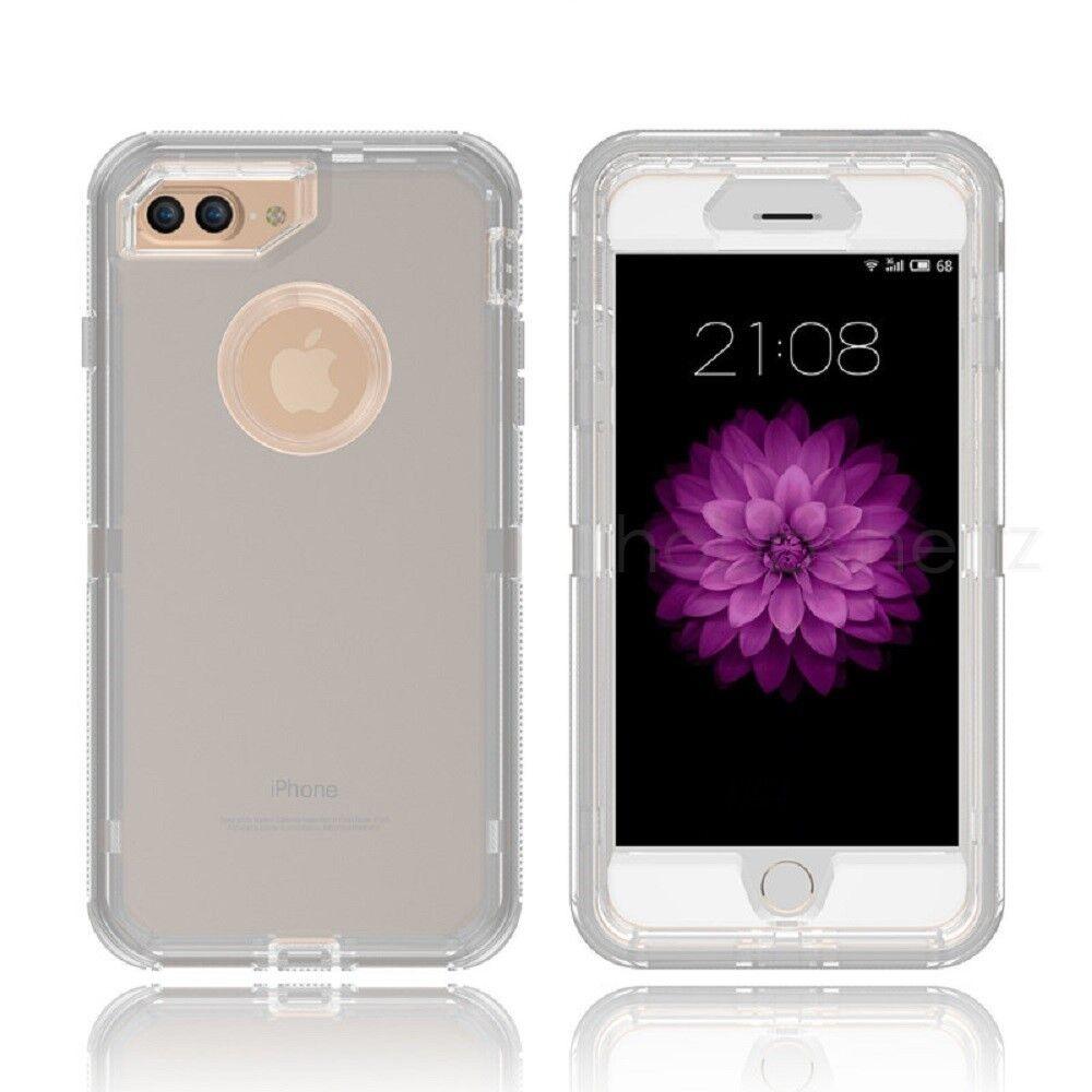 Clear Defender Transparent Case Cover iPhone X 8 7 6 & Plus Clip fits Otterbox