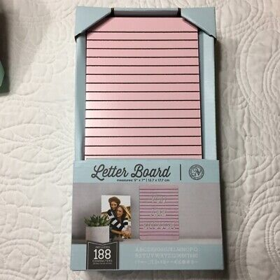 New In Box Pink Tabletop Letter Sign Board Letters Included By New View 5 X 7