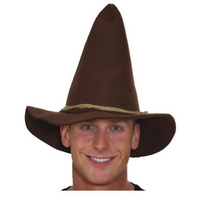 Adult Scarecrow Hat Rope Band Wizard Of Oz Costume Brown Hillbilly Oktoberfest