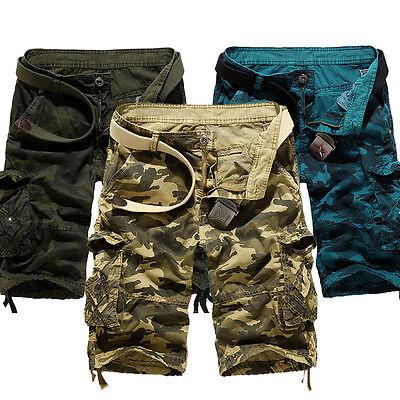 Combat Hosen Camo (Herren Shorts Cargo Combat Armee Camouflage Camo Freizeit Beiläufige Kurze Hosen)