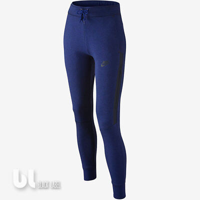 Fleece Trainingshose Mädchen (Nike Tech Fleece Thermo Hose Mädchen Trainingshose Girls Sport Jogginghose Blau)