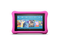 """BRAND NEW £80.00   Fire 7 Kids Edition Tablet, 7"""" Display, 16 GB, Pink Kid-Proof Case"""
