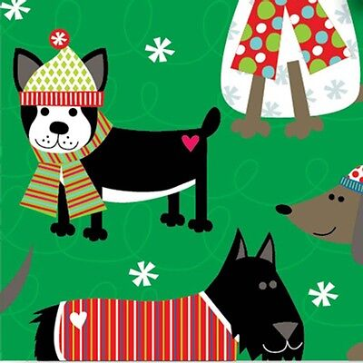 Christmas DOGS Dressed for Winter ~ Tissue Paper # 717 ... 10 Lg Sheets ](Christmas Tissue Paper)