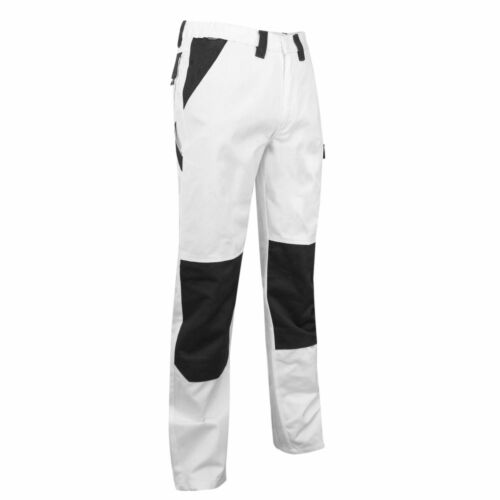 """WHITE PAINTERS WORK TROUSERS MENS LIGHTWEIGHT DURABLE INDUSTRIAL 30""""-43"""""""