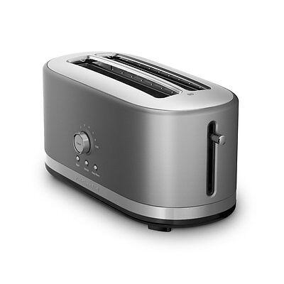 KitchenAid RKMT4116CU 4 Slice Long Slot Toaster High Lift Lever, Contour Silver