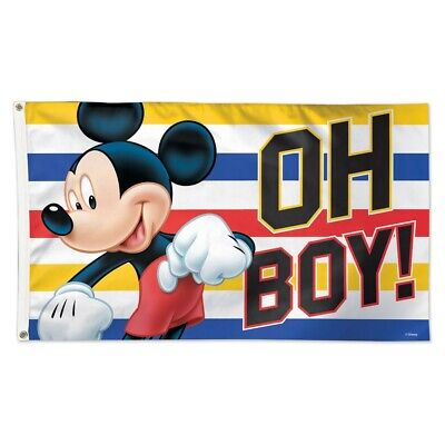 MICKEY MOUSE OH BOY DISNEY 3/'X5/' DELUXE FLAG WINCRAFT