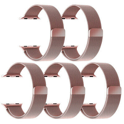 Aus 4 Stainless Steel (5/3/2 Pack Milanese Bracelet Stainless Steel Band For Apple Watch Series 4 3 2)
