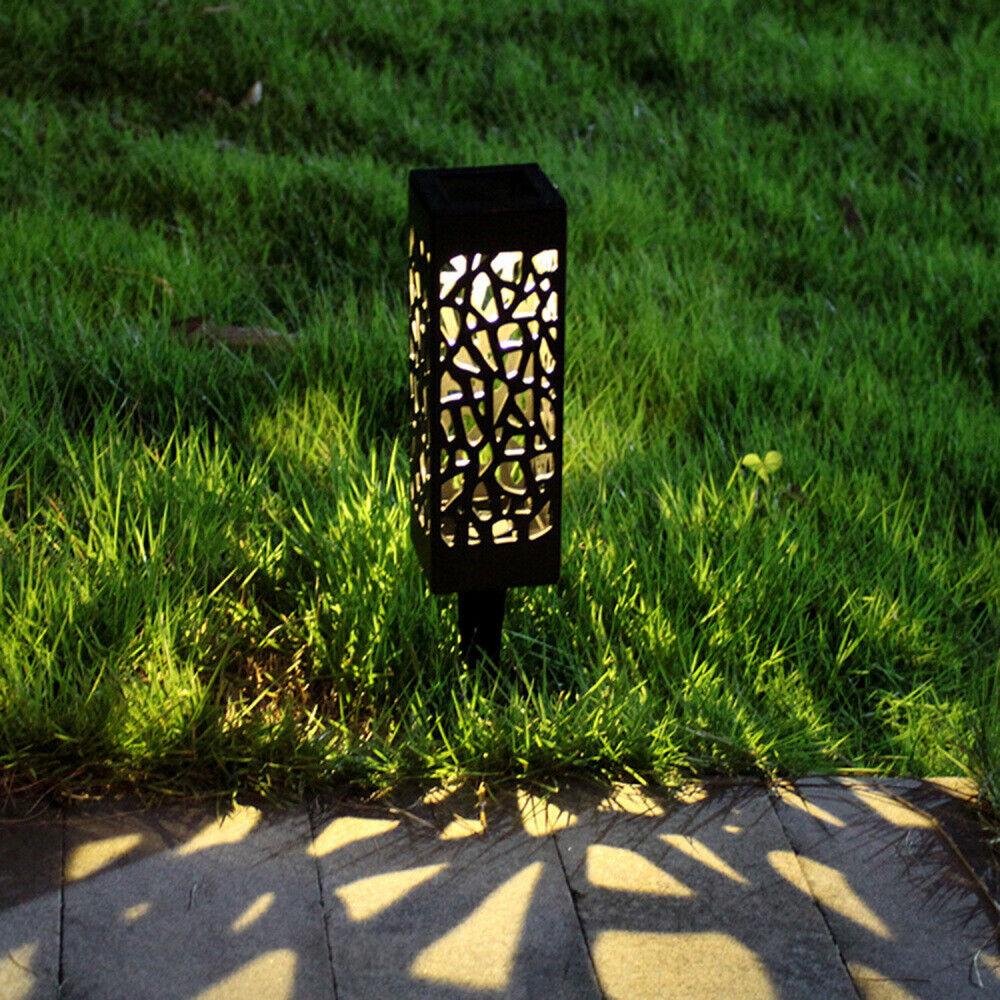 6//12x LED Solarlampe Steinoptik Gartenlampe Leuchte Außenlampe Wegeleuchte DE