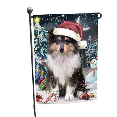 Holly Jolly Christmas Happy Holidays Rough Collie Dog Garden Flag GFLG54309