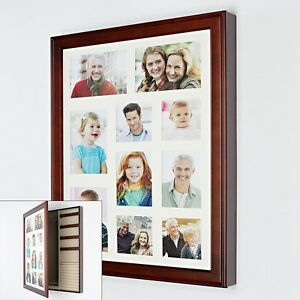 Details about Photo Collage Frame Jewelry Box Wall Cabinet Wood Wooden ...