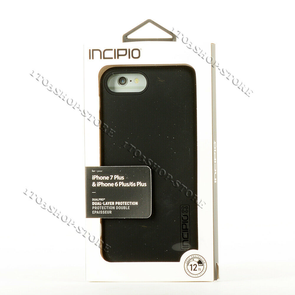 super popular 3ac52 4de99 Details about Incipio DualPro iPhone 7 Plus & iPhone 8 Plus Hard Shell Snap  Cover Case - Black