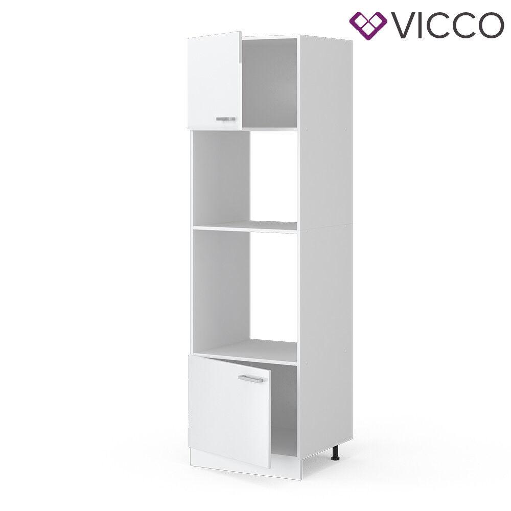 VICCO Küchenschrank Hängeschrank Unterschrank Küchenzeile R-Line Mikrowellenumbauschrank 60 cm weiß