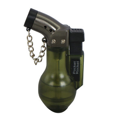 Pocket Rocket Single Jet Flame Butane Cigarette Cigar Torch Lighter – Green