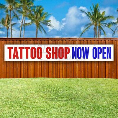 Tattoo Shop Now Open Advertising Vinyl Banner Flag Sign Large Huge Xxl Size