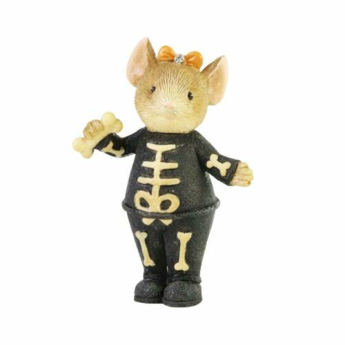 Skeleton Mouse Figurine Tails With Heart Collection Halloween New in Box
