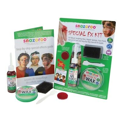 Halloween Special Effects Kit - Fx Snazaroo Paint Face Blood Fx Wax Scar - Special Effects Makeup Kit