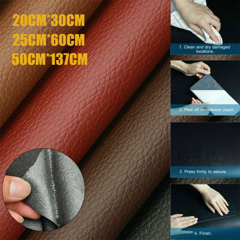 New PU Leather Repair Self-Adhesive Patch Stick on Sofa Clothing Car Seat Bag US