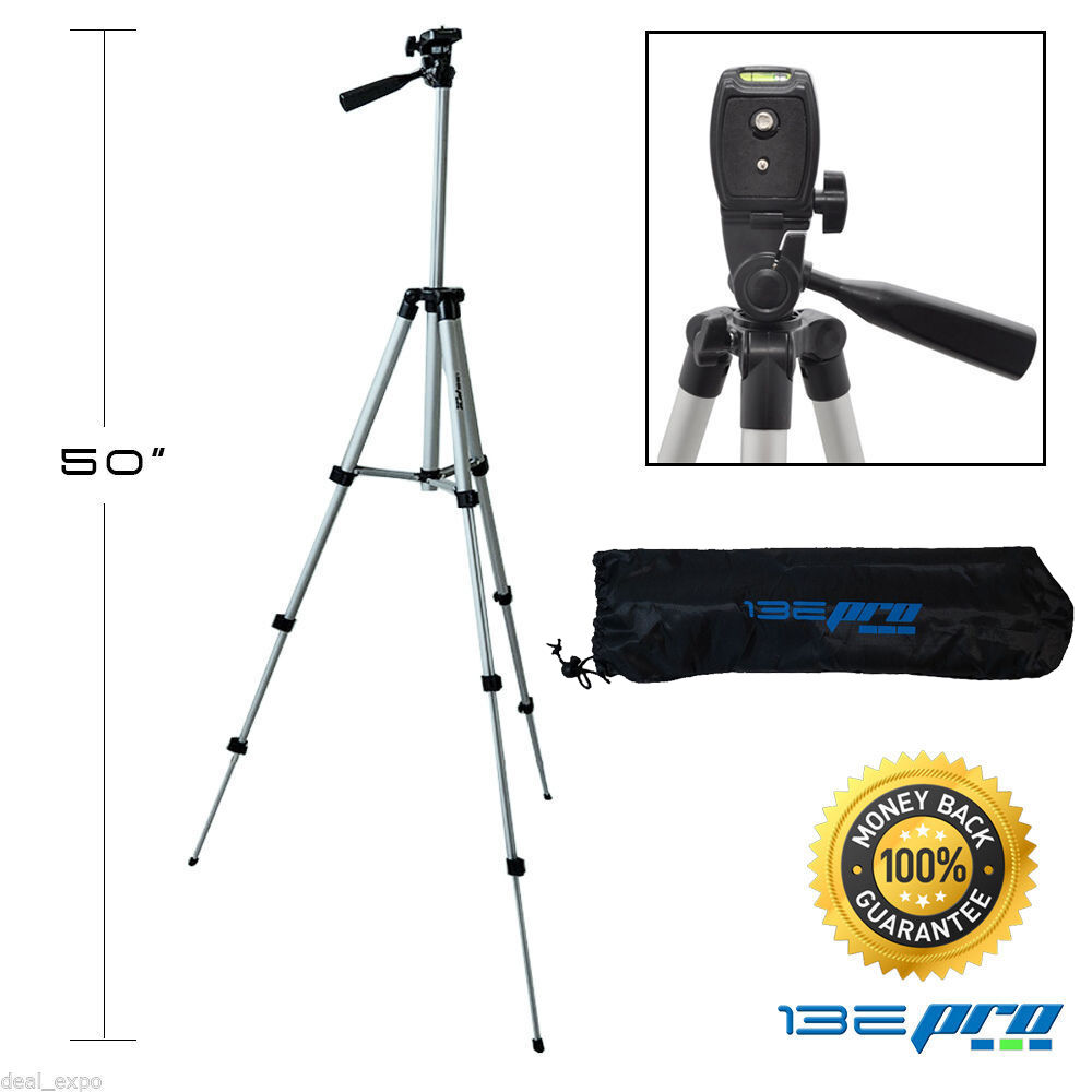 I3ePro Full Size 50-inch Tripod W/Leveler Adjust & Carrying Case for SLR Cameras