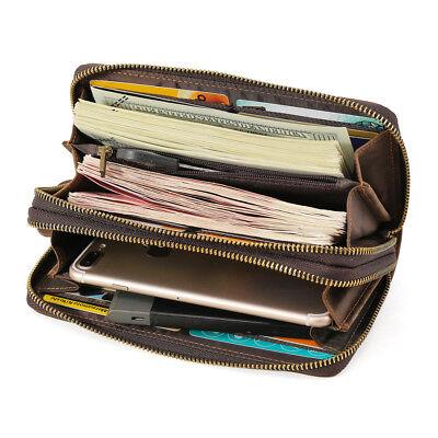 Lange Herren Lederbörse Geldbörse Portemonnaie Portmonee Clutch Brieftasche