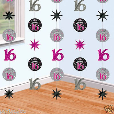 Sweet Sixteen Party (SWEET 16 SIXTEEN BIRTHDAY PARTY 6 PACK STRINGS 7FT BANNER DECORATION)