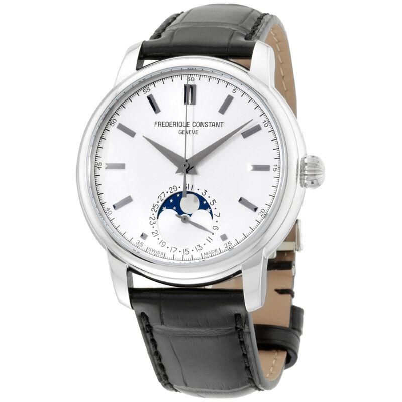 Frederique Constant Classics Silver Dial Leather Strap Men's Watch FC-715S4H6 - watch picture 1