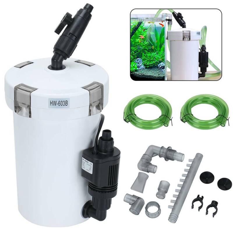 Aquarium Außenfilter Pumpe Aquairum Filter Wasserpumpe 400L/H 3 Stufen DE