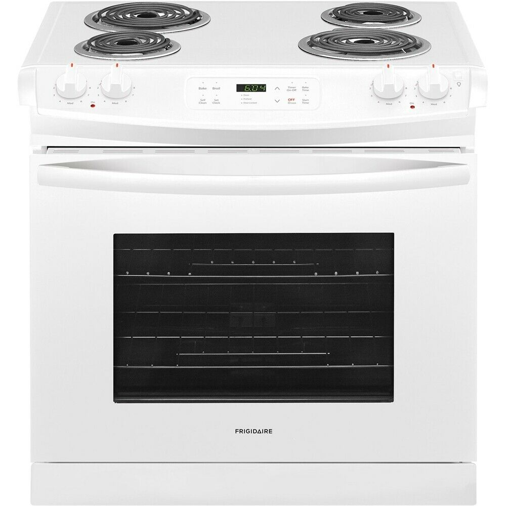 "Frigidaire  FFED3016TW 30"" White 4 Burner Electric Drop-in R"